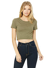 Bella + Canvas 6681 Women Poly/Cotton Crop T-Shirt at GotApparel