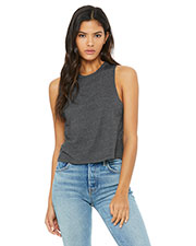Bella + Canvas 6682 Women Racerback Cropped Tank at GotApparel