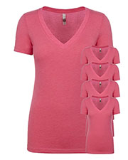 Next Level 6740 Women Tri-Blend Deep V Tee 5-Pack at GotApparel