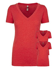 Next Level 6740 Women Tri-Blend Deep V Tee 3-Pack at GotApparel