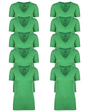 Next Level 6740 Women Tri-Blend Deep V Tee 10-Pack at GotApparel