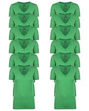 Next Level 6740 Women Tri-Blend Deep V Tee 12-Pack at GotApparel