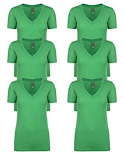 Next Level 6740 Women Tri-Blend Deep V Tee 6-Pack at GotApparel