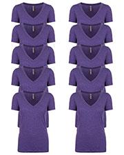 Next Level 6740 Women Tri-Blend Deep V Tee 10-Pack at GotApparel