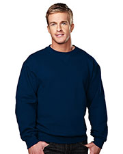 Tri-Mountain 680 Men Aspect Sueded Finish Crewneck Sweatshirt at GotApparel