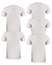 Lat 6907 Men Fine Jersey V-Neck Short-Sleeve T-Shirt 5-Pack at GotApparel
