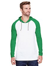 LAT 6917 Men 4.5 oz Hooded Raglan Long-Sleeve T-Shirt at GotApparel