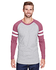 LAT 6934 Men 4.5 oz Gameday Mash Up Long-Sleeve T-Shirt at GotApparel