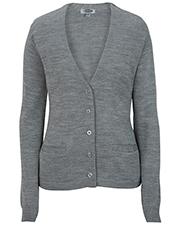 Edwards 7045 Women V-Neck Cardigan Sweater-Tuff-Pil Plus at GotApparel