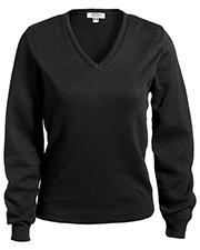 Edwards 7090 Women V-Neck Cotton Sweater at GotApparel