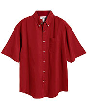 Tri-Mountain 718 Men Easy Care Short-Sleeve Twill Shirt at GotApparel