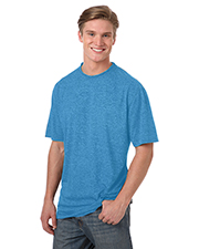 Blue Generation BG7228 Men 'S HEATHERED WICKING TEE  -  GREY HEATHER 2 EXTRA LARGE SOLID at GotApparel