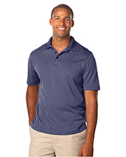 Blue Generation BG7229 Men 'S HEATHERED WICKING POLO  -  GREY HEATHER 2 EXTRA LARGE SOLID at GotApparel