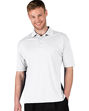 Blue Generation BG7231 Men 'S ULTRA LUX POLO  -  BLACK 2 EXTRA LARGE SOLID at GotApparel