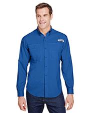Custom Embroidered Columbia 7253 Men 2.4 oz Tamiami II Long-Sleeve Shirt at GotApparel