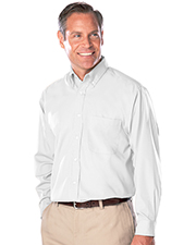 Blue Generation BG7266 Men S LONG SLEEVE EASY CARE POPLIN WITH MATCHING BUTTONS  -  BLACK 2 EXTRA LARGE SOLID at GotApparel