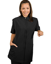 Edwards 7278 Women Contrast Collar Short-Sleeve House Keeping Tunic at GotApparel