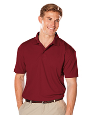 Blue Generation BG7300 Men 'S VALUE MOISTURE WICKING S/S POLO  -  BLACK 2 EXTRA LARGE SOLID at GotApparel
