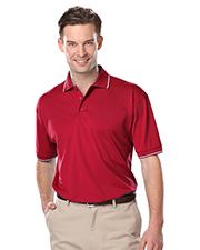 Blue Generation BG7301 Men S WICKING PIPED POLO  -  BLACK 2 EXTRA LARGE SOLID at GotApparel