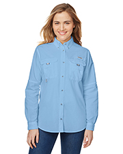 Custom Embroidered Columbia 7314 Ladies 3 oz Bahama Long-Sleeve Shirt at GotApparel