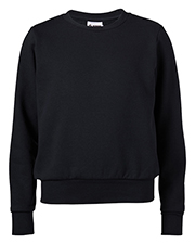 Soffe 7332G Women Core Fleece Crew Neck Sweatshirt at GotApparel