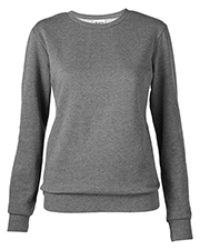 Soffe 7332V Women Core Fleece Crew Sweatshirt at GotApparel