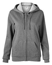 Soffe 7336V Women Core Fleece Full Zip Hoodie at GotApparel
