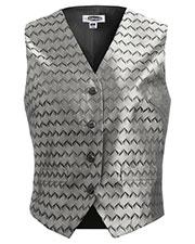 Edwards 7391 Women Swirl Brocade V-Neck Vest at GotApparel