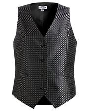 Edwards 7396 Women V-Neck Sleeveless Grid Brocade Vest at GotApparel