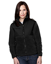 Tri-Mountain 7420 Women Arctic Panda Fleece Jacket With Nylon-Paneling at GotApparel