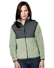 Tri-Mountain 7420 Women Arctic Panda Fleece Jacket With Nylon-Paneling at GotApparel