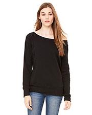 Bella + Canvas 7501 Women Sponge Fleece Wide Neck Sweatshirt at GotApparel