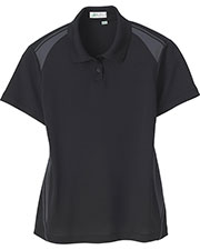 Il Migliore 75054 Women Recycled Polyester Performance Honeycomb Color Block Polo at GotApparel