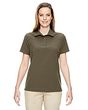 North End 75120 Women Excursion Crosscheck Woven Polo at GotApparel