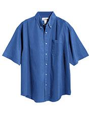 Tri-Mountain 768 Men Recruit Stain-Resistant Short-Sleeve Twill Shirt at GotApparel