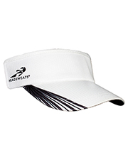 Custom Embroidered Headsweats 7703GR Unisex Grid Super Visor at GotApparel