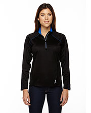 North End 78187 Women Radar Half-Zip Performance Long-Sleeve Top at GotApparel