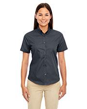 Core 365 78194 Women Optimum Short-Sleeve Twill Shirt at GotApparel