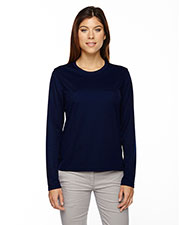 Core 365 78199 Women Agility Performance Long-Sleeve Pique Crew Neck at GotApparel