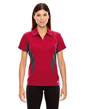 North End 78657 Women Serac Utk Cool.Logik  Performance Zippered Polo at GotApparel