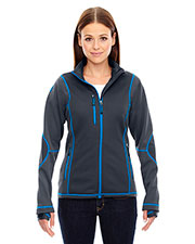 North End 78681 Women Pulse Textured Bonded Fleece Jacket with Print at GotApparel