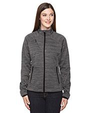 North End 78697 Women Flux Melange Bonded Fleece Jacket at GotApparel