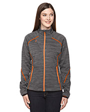North End 78697 Women Flux Melange Bonded Fleece Jacket at GotApparel
