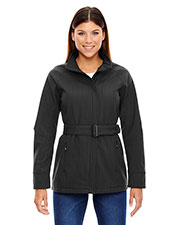 North End 78801 Women Skyscape Three-Layer Textured Two-Tone Soft Shell Jacket at GotApparel