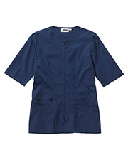 Edwards 7887 Women Housekeeping Short-Sleeve Zip Front Smock Tunic at GotApparel