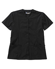 Edwards 7889 Women Snap Zone Short-Sleeve Front Smock Tunic at GotApparel