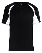 Badger 7938 Men Athletic Performance Henley T-Shirt at GotApparel