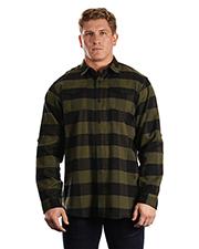 Burnside 8210 Men Plaid Flannel Shirt at GotApparel