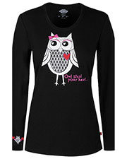"""Dickies Medical 82739 Women """"Owl Steal Your Heart"""" Underscrub Tee at GotApparel"""