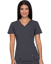 Dickies Medical 82851 Women V-Neck Top at GotApparel